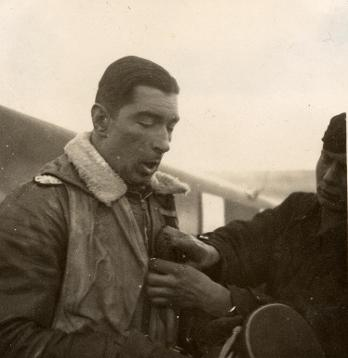 Colin after a sortie